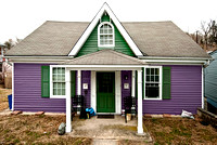 Purple House with Green Shutters, Ellicott City, MD